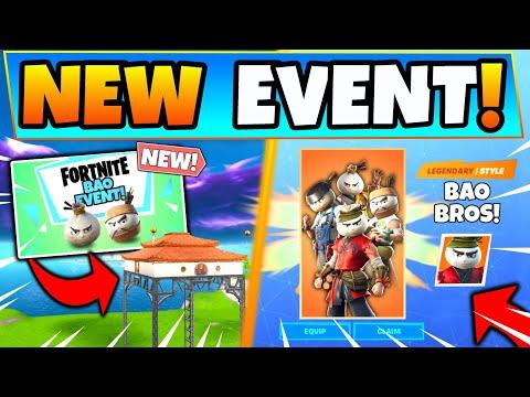 Fortnite BAO BROS EVENT AND NEW ITEMS! Free Rewards, Skins, & Razor (Battle Royale Update)