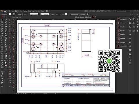 CADTOOLS PLUG IN Adobe Illustrator CC 2019 ตัวอย่างสอนการเขียน CADTOOLS WORKSHOP
