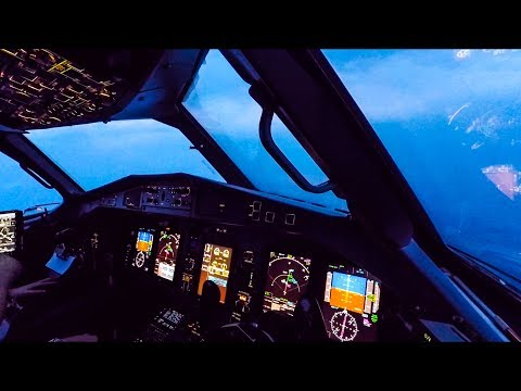 Turbulent Bad Weather Cockpit Landing - ATR 72-600