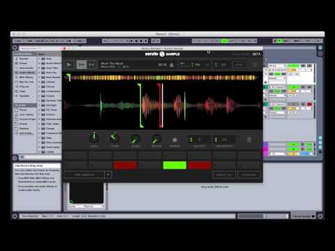 Time stretching and key shifting with Serato Sample
