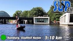 Hamburg-Hamm Tour: Kleingärten, Industrie & Wohnen auf dem Wasser // Stand Up Paddling // 5-10 km