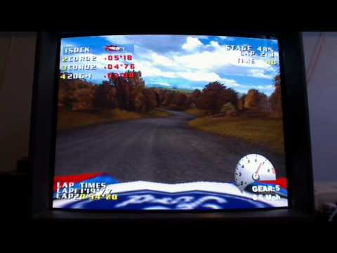 V-Rally 2 - Sega Dreamcast - Sony PVM