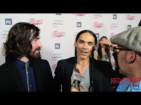 "Zahn McClarnon, ""Hanzee Dent"" at FX's Fargo Red Carpet Premiere Event #FargoFX"