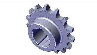 SolidWorks Tutorial - Roller Chain Sprocket