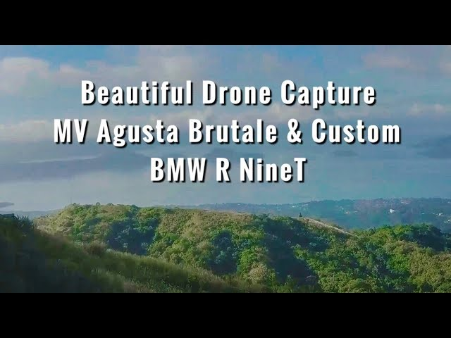 BEAUTIFUL DRONE CAPTURE | MV AGUSTA BRUTALE & CUSTOM BMW R NINET