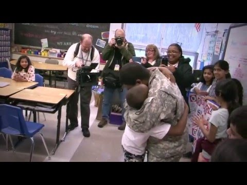 A Soldier's Homecoming at James Madison Intermediate School in Edison NJ