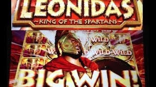 **MEGA WIN** LEONIDAS -KING of the SPARTANS- slot machine HUGE BONUS WIN!