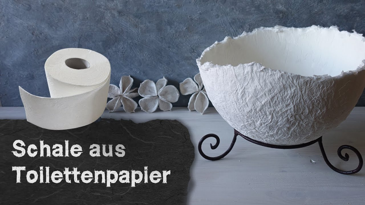 Pappmache Spardose Selber Machen Diy Pappmaché Toilet Paper Bowl Simple Method With Little Glue