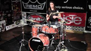 Greenbrier Demo, Sonor Ascent Beech 4pc Jazz Natural Finish Drum Solo - Sabian HHX Jazz Cymbals