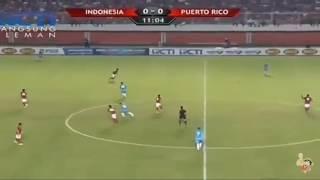 Merinding!! Suporter Indonesia Nyanyinkan Lagu Indonesia Pusaka - Indonesia vs Puerto Rico