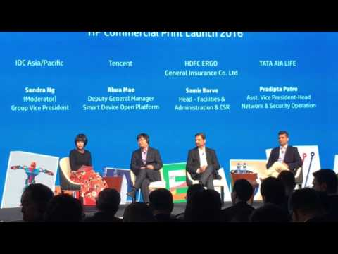 HP Discussion - Commercial Printer Launch - IDC, Tencent, HDFC Ergo, TATA