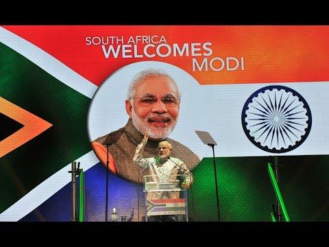 PM Shri Narendra Modi addresses Indian Community, Johannesburg, South Africa.