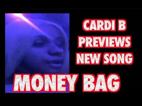 CARDI B PREVIEWS NEW SONG MONEY BAG