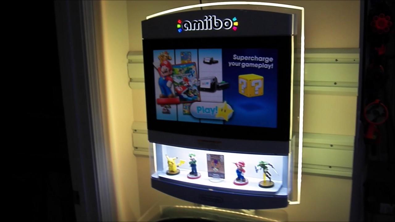 Wii U and Amiibo Store Display Kiosk Pickup + Showcase