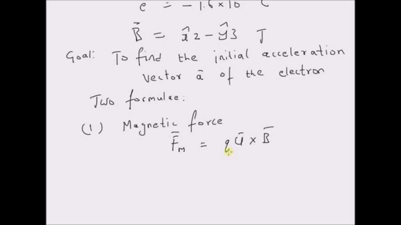 Acceleration of an electron in a uniform magnetic field