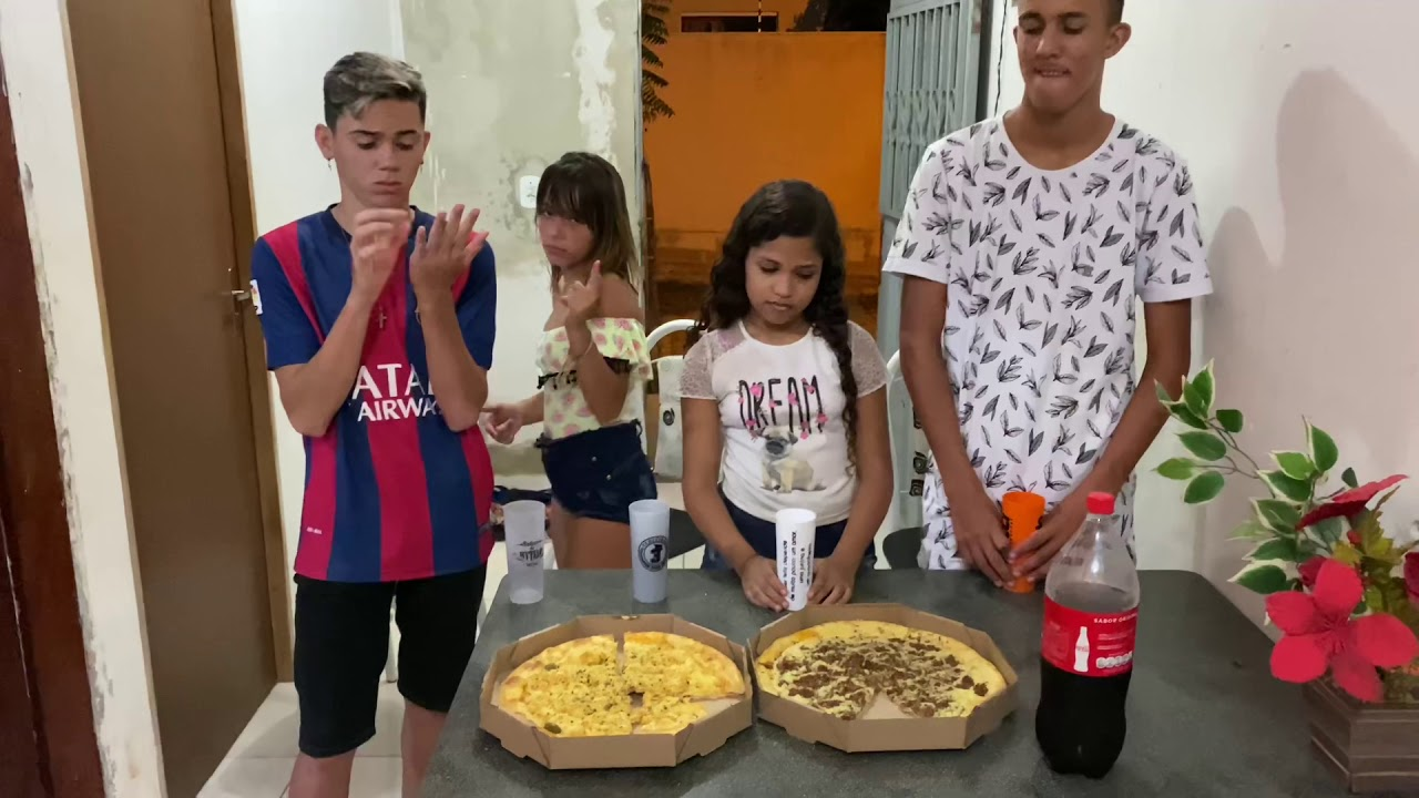 DISPUTA DA PIZZA TURMA HYTALO SANTOS 😱
