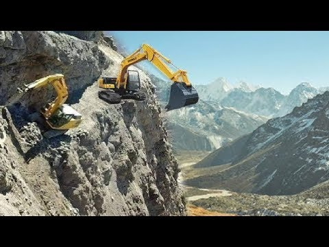 Extreme Dangerous Excavator Heavy Equipment Operator Skills - Fastest Climbing Excavator Driving