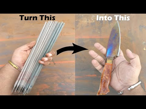 Turning Stainless Steel Welding Electrodes Into Chefs Knife From Stick welding