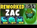 *ONE-SHOT ENTIRE TEAMS* NEW ZAC REWORK IS 100% BROKEN! (ACROSS MAP ONE-SHOTS) - league of Legends