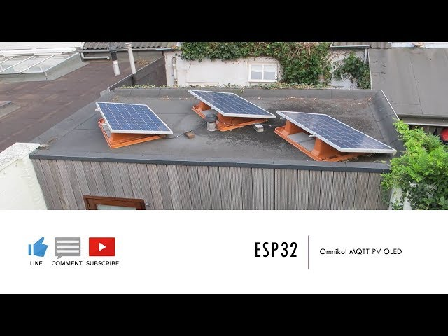 ESP32 | Omniksol Solar PV to MQTT gateway with OLED Display