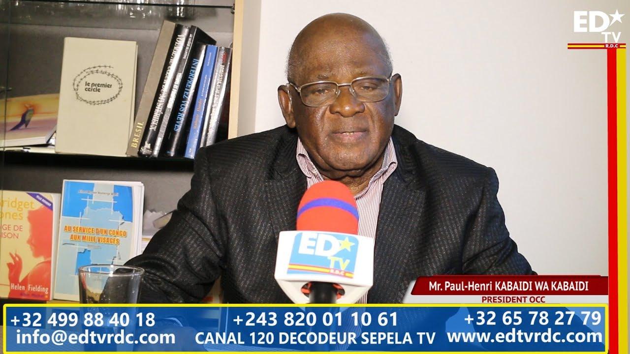 RDC RENTRÉE POLITIQUE 2017:  DECLARATION DE L'OCC LU PAR SON PRESIDENT KABAIDI WA KABAIDI