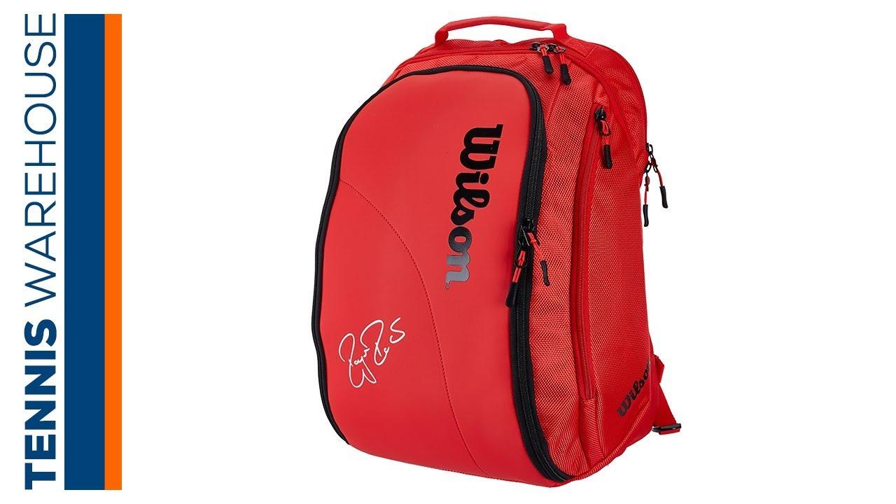 6abd4ce5a7620 Wilson Federer DNA Tennis Backpack - YouTube