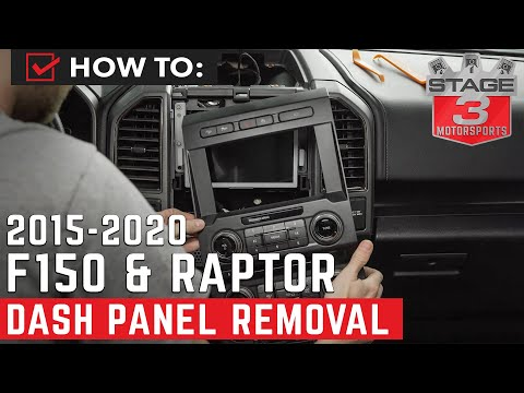 How To 2015 - 2019 F150 Dash Panel Stereo Removal