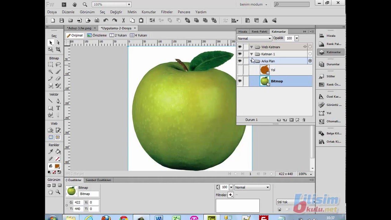 32 Kalem Aracı Ile Elma çizimi Youtube