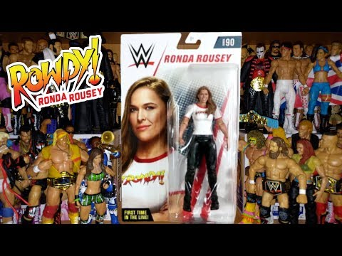 ROWDY RONDA ROUSEY Basic 90 Figure Review | WWE Action Figure Unboxing | WORLD EXCLUSIVE