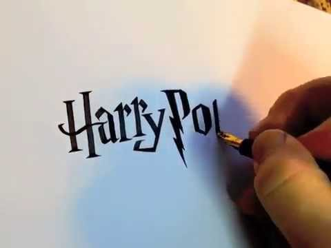 Harry Potter Doodle Seb Lester Calligraphy Youtube