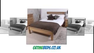 Beautiful Oak Wooden Bed Frame - Sleek Curves