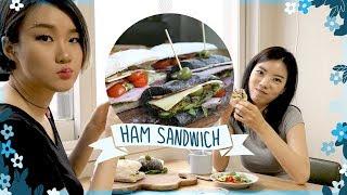 햄에게 해준 햄 샌드위치