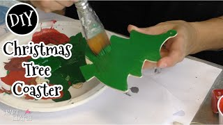 Christmas Tree Button Coaster DIY | Another Coaster Friday | Craft Klatch