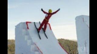 Фристайл-акробатика_прыжок с трамплина double