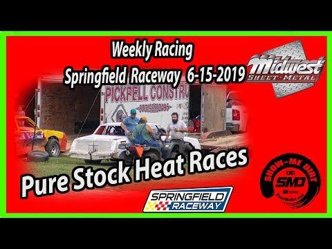 S03-E295 Pure Stock Heat Races Springfield Raceway 6-15-2019 #DirtTrackRacing