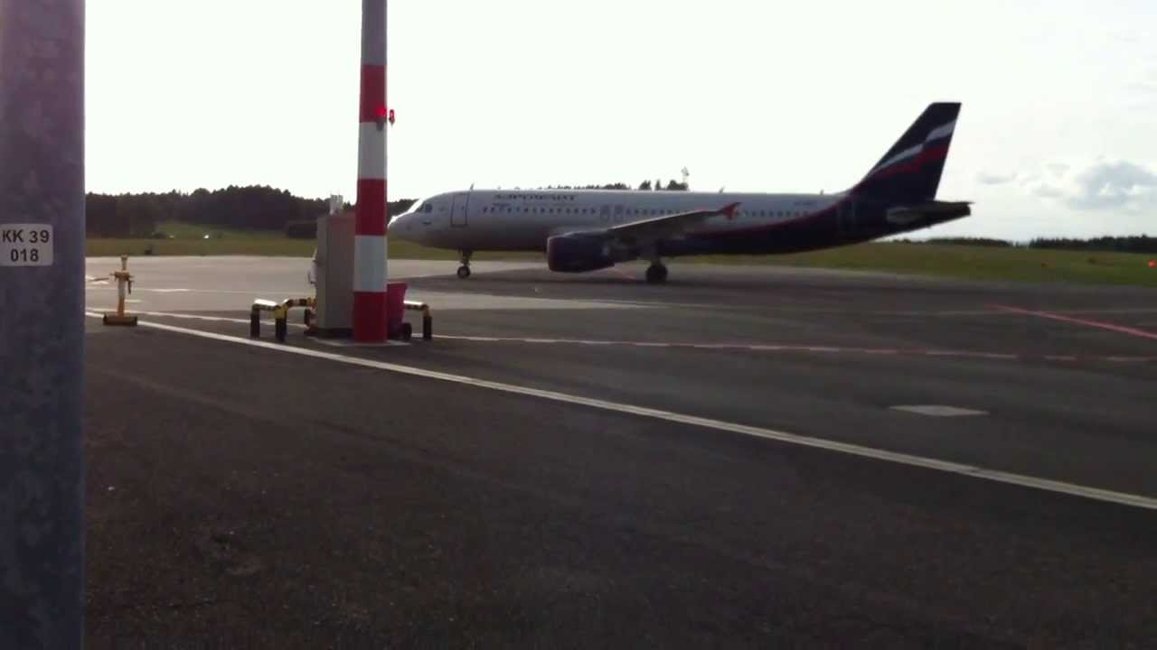 airport karlovy vary aeroflot take off 02 09 2013. Black Bedroom Furniture Sets. Home Design Ideas