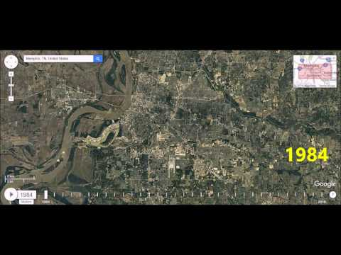 Memphis TN - Urban Sprawl Time Lapse