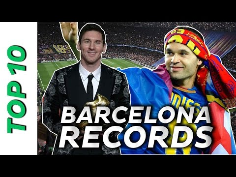 The SEXTUPLE 😱 ➕ more CRAZY records | Top 10 Barça Records 🏆🏆🏆