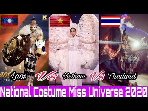 Laos VS Vietnam VS Thailand National Costume Miss Universe 2020 | ชุดประจำชาติ ลาว ไทย เวียดนาม