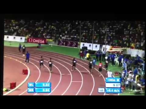 Justin Gatlin wins @ Doha 100m with time of 9.87