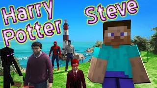 Minecraft Steve ve Harry Potter Örümcek Çocuk ile Tanışıyor Çizgi Film Gibi