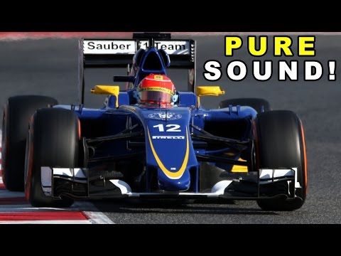 Formula 1 (F1) 2015 Sound! Sauber C34 Ferrari (F1 V6 Turbo engine)