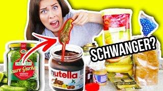 SCHWANGERE 👶🏻 FOOD KOMBINATIONEN TESTEN! 😱 Ekliges Essen im Live Test!