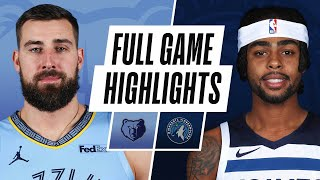 GRIZZLIES at TIMBERWOLVES | FULL GAME HIGHLIGHTS | January 13, 2021
