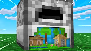 I Built Tiny Houses Inside A Furnace In Minecraft!