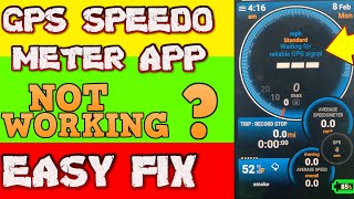 Easy fix Ulysse speedometer not working - Any Gps Speedometer App not working screenshot 2