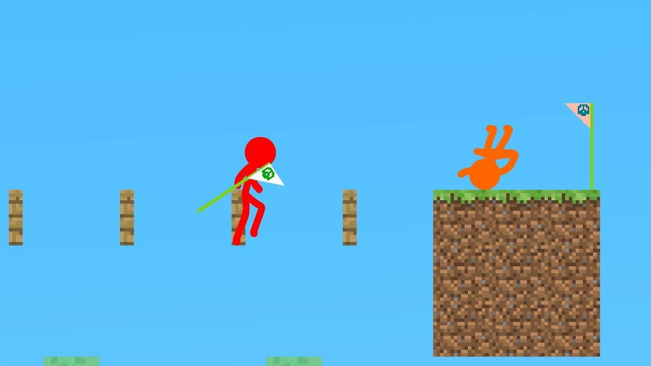 Animation Vs Minecraft : Parkour Flag Battle