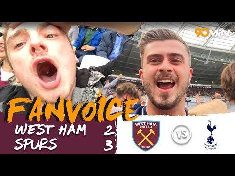 Kane and Hernandez score in 5 goal thriller! | West Ham 2-3 Tottenham | 90min FanVocie