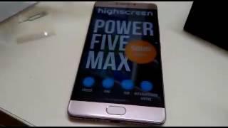 Highscreen POWER FIVE MAX Распаковка второго телефона