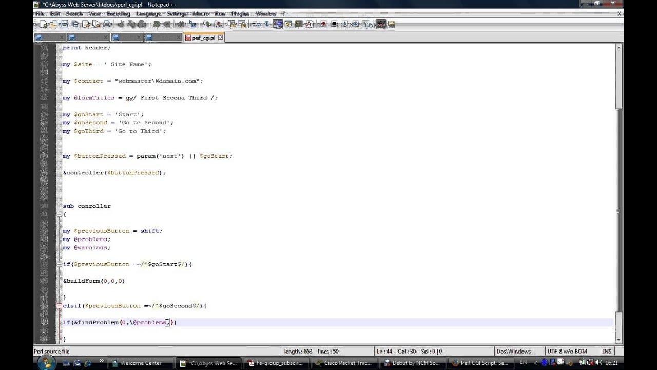 Perl CGI script #1